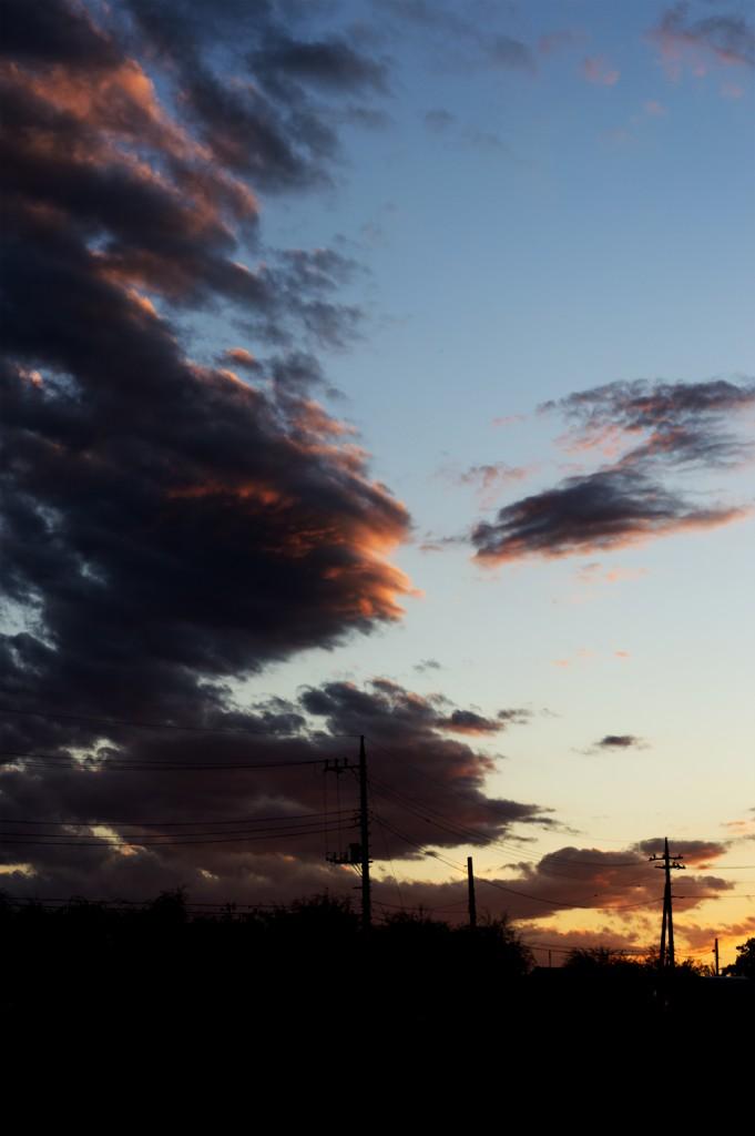 at dusk