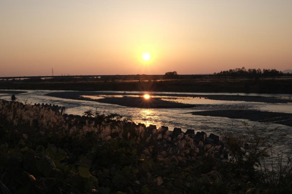 初撮り:夕陽