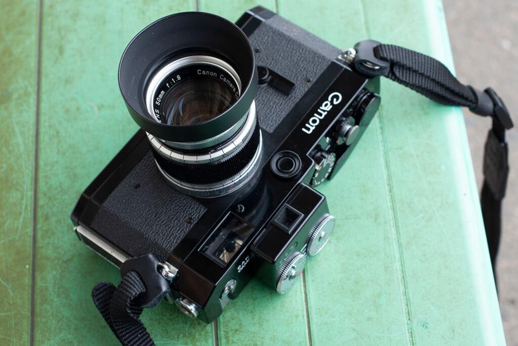 40D で撮った Canon P + Canon 50mm f/1.8 II
